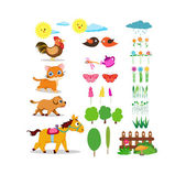Farm life set — Stock Vector