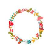 レトロなスタイルの花の背景 — ストックベクタ