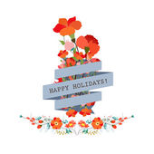 Cute floral bouquets in vintage style — Stock Vector