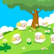 Farm animals with sheeps — Stock Vector #50181873