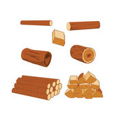 Logs collecton — Stock Vector