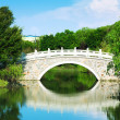 Chinese architecture, lakeside Landscape Bridge — Stock Photo