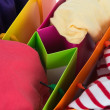 The shopping bags, various colour — Stock Photo