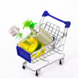 Shopping cart with sale. — Stock Photo