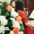 The wedding scene, flower decoration — Stock Photo