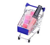 Shopping cart with sale. — Zdjęcie stockowe