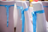 View of nice chairs ready for wedding ceremony — Stock Photo