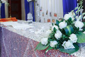 The wedding scene, flower decoration — Foto de Stock
