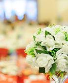 The wedding scene, flower decoration — Stock Photo