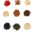 Chinese traditional medicinal herb collection, isolated over whi — Stock Photo