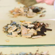 Chinese traditional medicinal herb collection, isolated over whi — Stock Photo #29413991