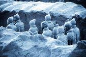 The famous terracotta warriors of XiAn, China — Stock Photo