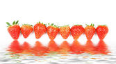 Fresh and Juicy Strawberry Background. — Stock Photo