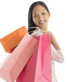 Portrait Of Beautiful Woman Carrying Shopping Bags — Stock Photo