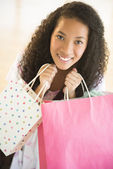 Portrait Of Teenage Girl Carrying Shopping Bags — Stock Photo