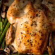 Whole Roasted Free Range Chicken  — Stock Photo