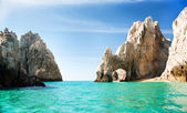 Sunny Lover's Beach in Cabo San Lucas, Mexico — Stock Photo