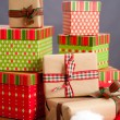 Stock Photo: Christmas Presents in Pile