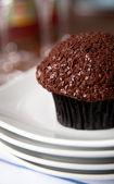 Chocolate Cupcake with Sprinkles — Stock Photo