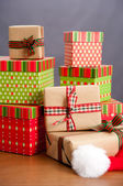 Christmas Presents in Pile — Stock Photo