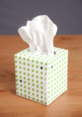 Simple Tissue Box on Desk — Stock Photo