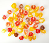 Small Colorful Heirloom Cherry Tomatoes — Stock Photo