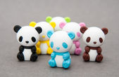 Colorful bear erasers — Stock Photo