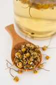Freshly Brewed Dried Organic Chamomile Tea — Stock Photo