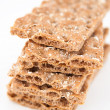 Stock Photo: Pile of Whole Grain Healthy Crackers Isolated on White Background