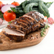 Cooked Pork Loin Roast with Vegetables and Spices — Foto Stock