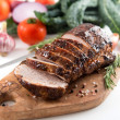 Cooked Pork Loin Roast with Vegetables and Spices — Stock Photo
