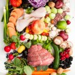 Assortment of Various Healthy Foods — Stock Photo