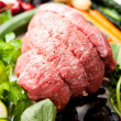 Beef Roast Round Ready to be Cooked with Various Vegetables — Stockfoto