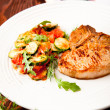 Pan Fried Pork Chop with Bone — Stock Photo