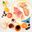 Fresh Baguette and Cured Meats — Stock Photo