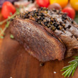 Beef Roast with Crashed Peppercorns and Vegetables — Stock Photo