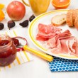 Fresh Baguette and Cured Meats — Stock Photo #29074859