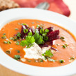 Tomato Soup with Sour Cream — Stock Photo #29075465