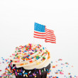 Independence Day Themed Cupcake — Stock Photo #29075587