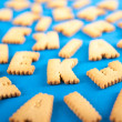 Letter Shaped Cookies — Stock Photo