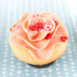 Vanilla Strawberry Cupcake — Stock Photo