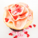 aardbei Vanille cupcake — Stockfoto #29077357