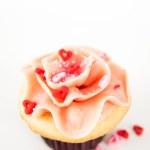 aardbei Vanille cupcake — Stockfoto #29077359