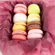 Stock Photo: Assorted French Macaroons