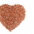 Heart Healthy Raw Red Quinua Seeds — Stock Photo