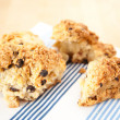 Freshly Baked Scones with Raisins — Stock Photo