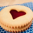 Shortbread Cookies with Heart Shaped Window — Stock Photo #29078581