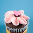 Cute Valentine's Day Cupcakes — Stock Photo