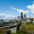 Seattle Skyline on Sunny Day Facing Puget Sound — Stock Photo #29079037