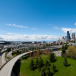Seattle Skyline on Sunny Day Facing Puget Sound — Stock Photo #29079171